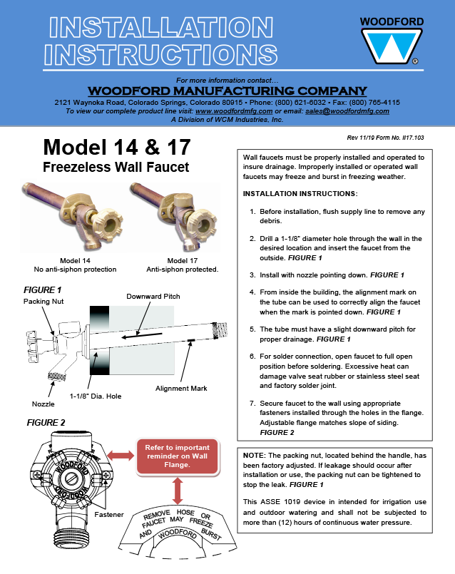 Woodford Model 17 Freezeless Faucet